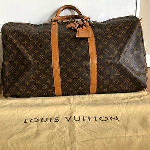 Authentic Louis Vuitton Boston Bag keepall 55